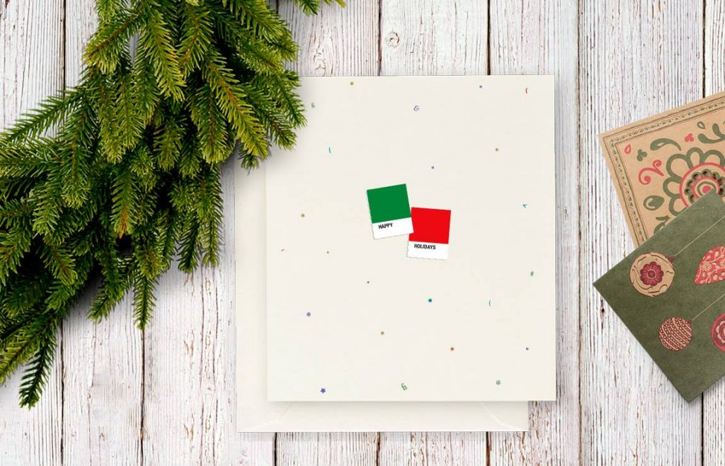 Pantone swatch Christmas greeting