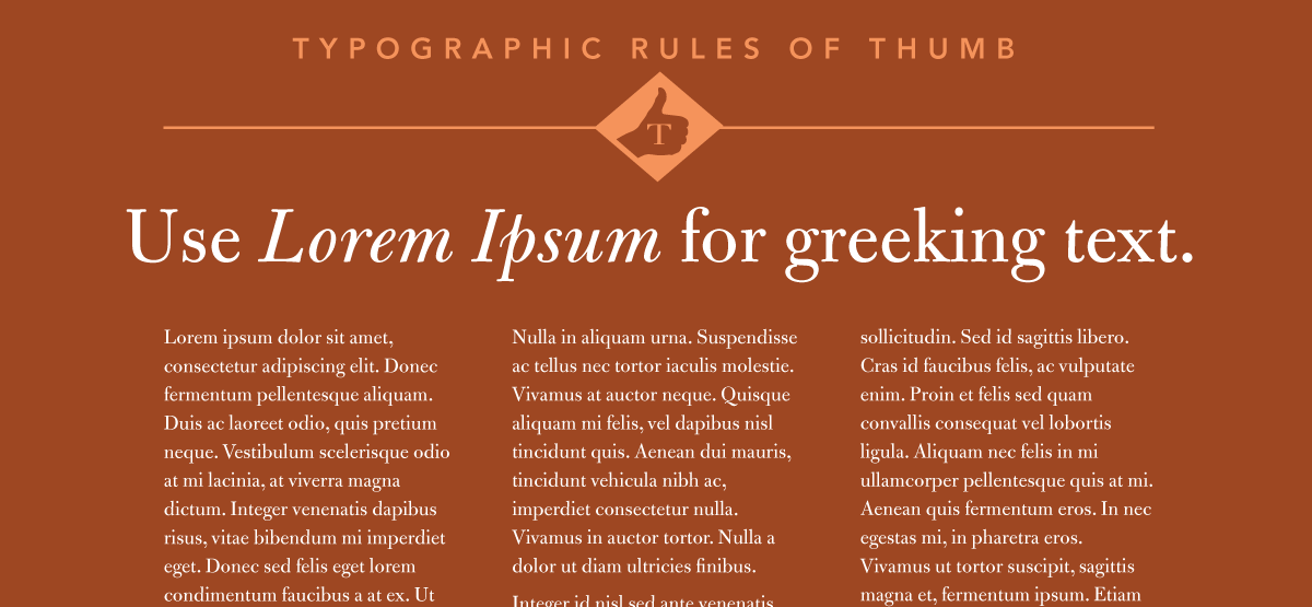 Lorem Ipsum is used for greeking text