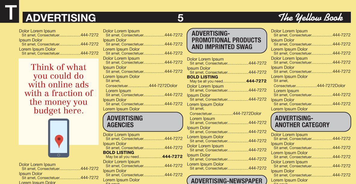Think of what you could do in online ads with what you have budgeted for yellow pages