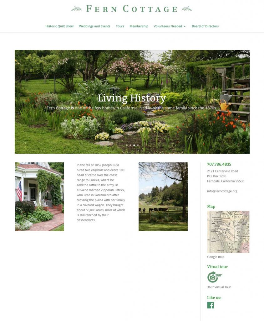Historic Fern Cottage website