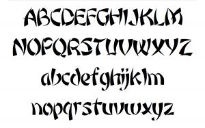Wonton, an Image Club typeface