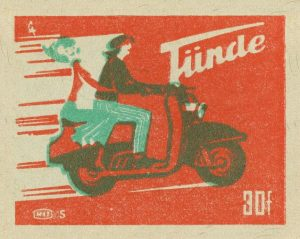 two-color Hungarian matchbook cover