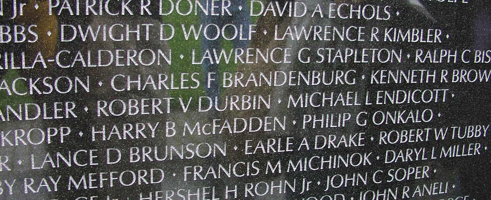 Herman Zapf's Optima typeface used in the Vietnam Memorial in Washington