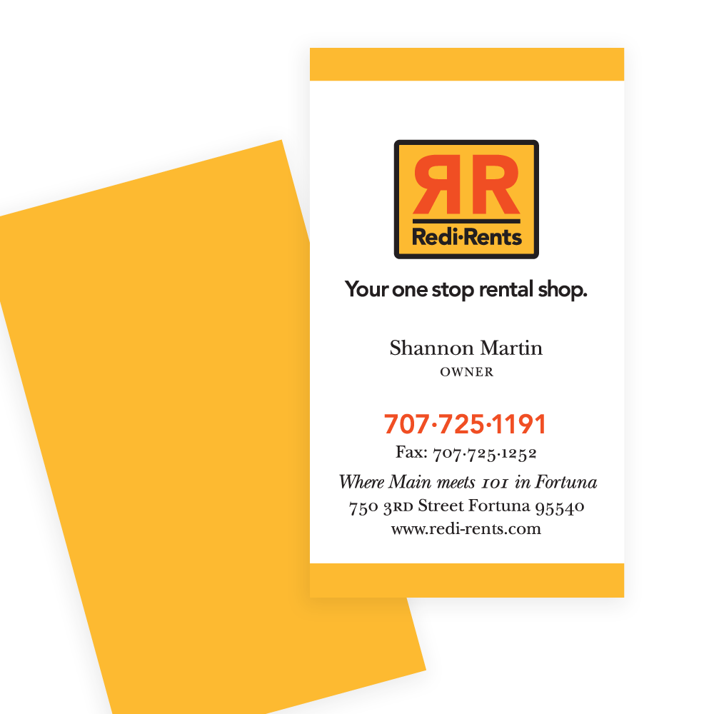 Redi-Rents business card