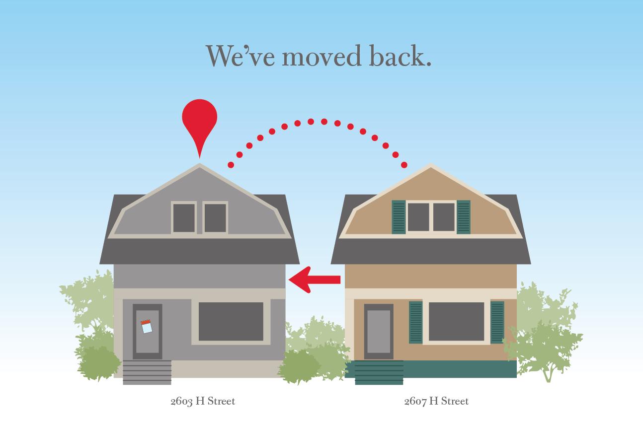 We moved back